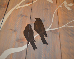 painting birds black