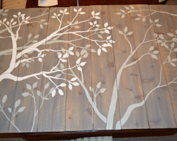 white branches added