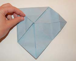 folding in second corner