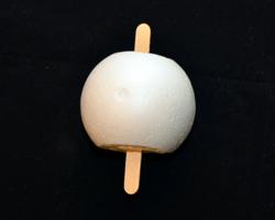craft stick through foam ball