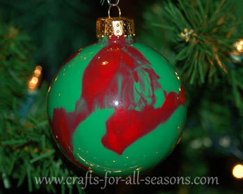 swirled paint ornament