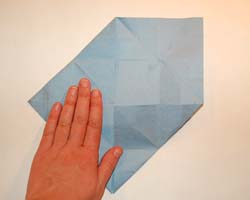 three sides folded in