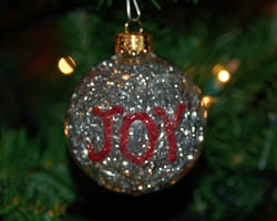tinsel glass ball ornament