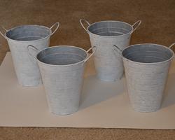 white pails