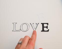 die cut letters