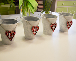 decorated pails