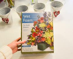 wet floral foam
