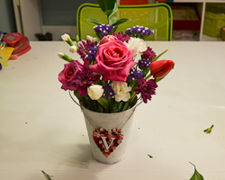 valentines day floral arrangement
