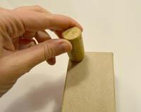 gluing cork