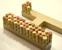 how to make a wine cork letter