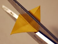 cutting triangle out of card stock
