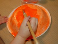 painting bowl orange