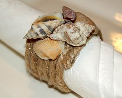 photo of finished seashell napkin ring