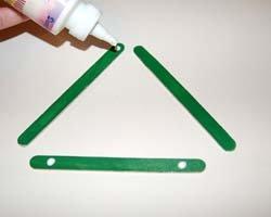 dotting glue on ends