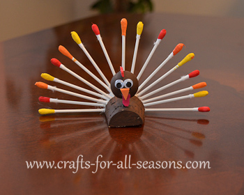 Q-tip turkey craft