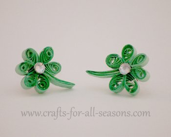 quilled shamrock earrings22