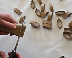 cutting paper rings