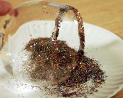 glitter on sides