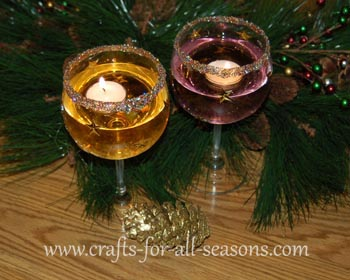 Wine Glass Candle Holders