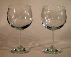 plain wine glasses