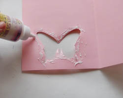 applying glue to edges