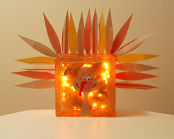 Craft Ideas Glass Blocks on Be Best The Best Part Is The Glass Block Turkey Looks So Cute Whether
