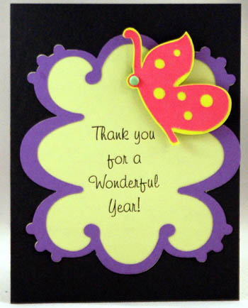 teacher thank you cricut card