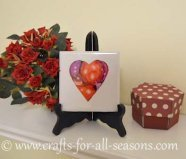 alcohol ink tile heart