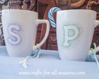 sharpie monogram mug