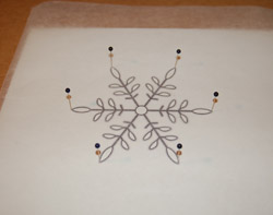 photo of template on wax paper