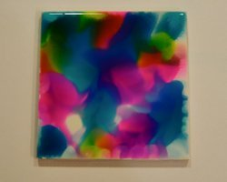 alcohol ink tile