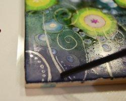 alcohol ink tile