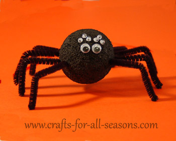 Foam Ball Spider Craft