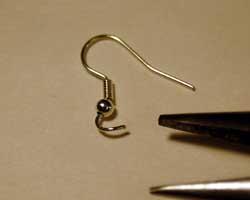 earring hoop open