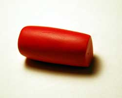 red polymer clay roll