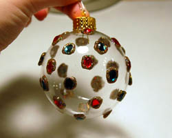 sparkling gem ornament