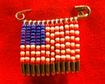american flag beaded pin