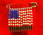 american flag beaded pin