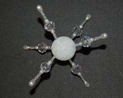beaded snowflake craft