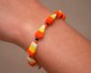 candy corn polymer clay bracelet