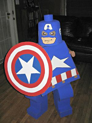 Captain America Lego Kid