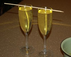champagne gel candles