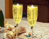 champagne gel candle holders