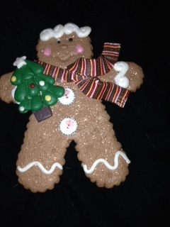 polymer clay gingerbread man