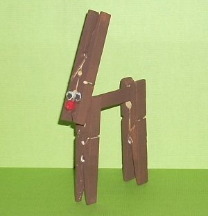 clothespin christmas craft