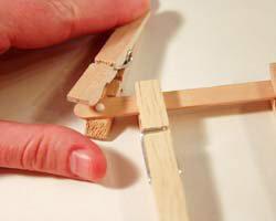 clothespin reindeer craft