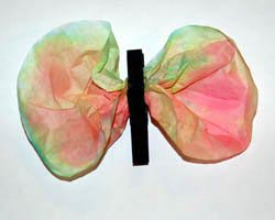 coffee filter butterfly