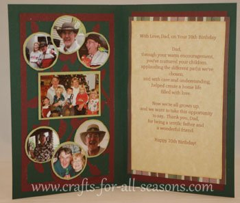 Beach Christmas Cards >> Cricut 70th Birthday Card