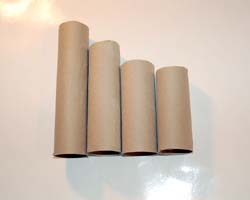 cut paper towel tubes