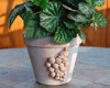 decorated flwoer pot